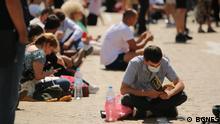 Bulgarien I Protest I Blockade durch Lesen