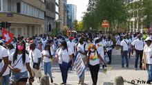 Belgien Demo der guinea-bissauischen Diaspora in Brüssel
