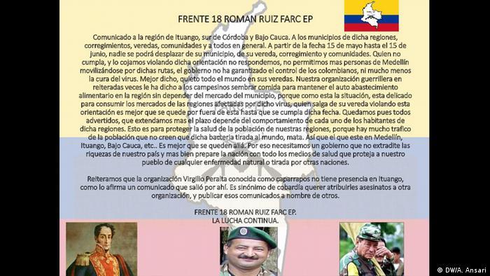 Screenshot Kolumbien FARC