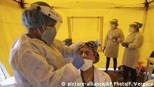 Kolumbien Coronavirus COVID-19 Tests in Bogota