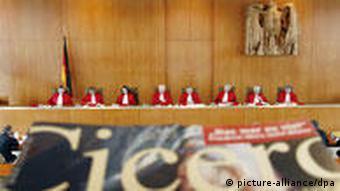 Cicero magazine in the German Constitutional Court