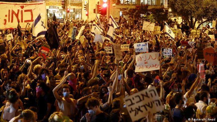 Israel: Protest wegen Corona-Maßnahmen gegen Netanjahu in Jerusalem