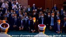 Türkei Istanbul Präsident Erdogan erreicht Hagia Sophia zum Freitagsgebet