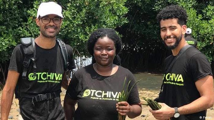 Fernanda Samuel, uma das finalistas do prémio Jovens Campeões da Terra e fundadora do projeto Otchiva