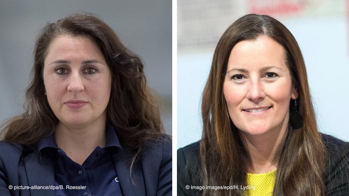 Avukat Seda Başay Yıldız ve Sol Parti Eş Başkanı Janine Wisler
