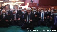Türkei Istanbul Präsident Erdogan in Hagia Sophia zum Freitagsgebet