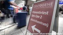 Deutschland Frankfurt a.M. Flughafen | Coronavirus | Test
