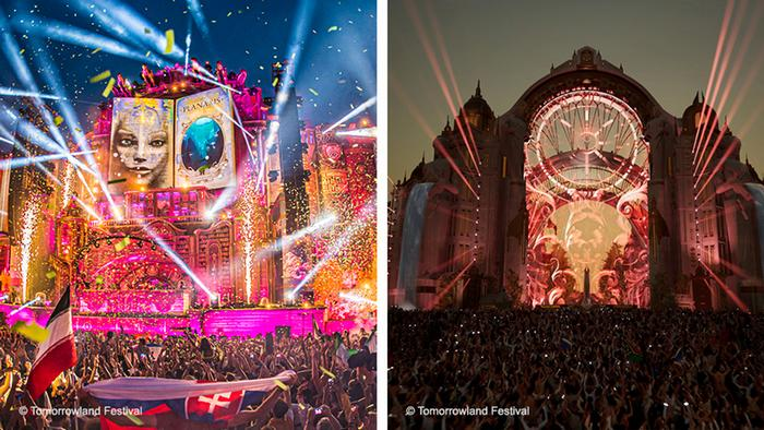 Two stages from the Tomorrowland digital edition