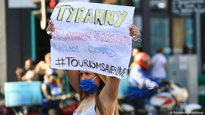 Südafrika Kapstadt | Protest gegen Coronamaßnahmen
