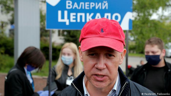 Der Oppositionspolitiker Valery Tsepkalo (Foto: Reuters/V. Fedosenko)