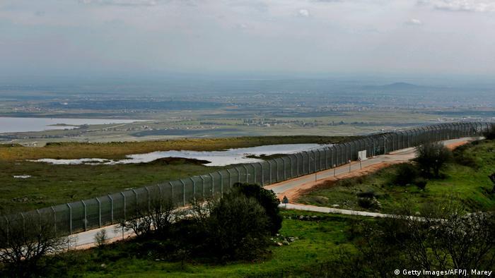 Foto simbólica de la provincia de Quneitra y su división con Siria