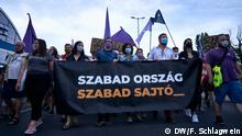 Ungarn I Budapest I Protest gegen politische Einflussnahme auf Nachrichtenportal Index