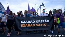 Budapest protests (DW/F. Schlagwein)