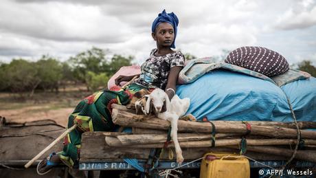 BdTD - Senegal Barkedji | Fulani Landwirtin mit zwei Jungschafen (AFP/J. Wessels)
