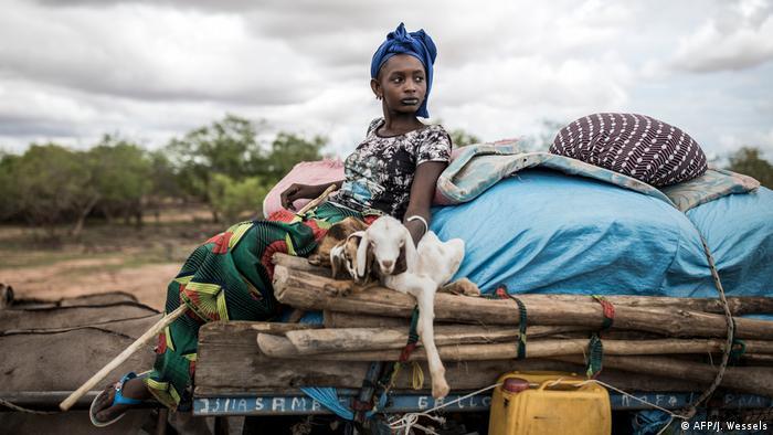 BdTD - Senegal Barkedji   Fulani Landwirtin mit zwei Jungschafen (AFP/J. Wessels)