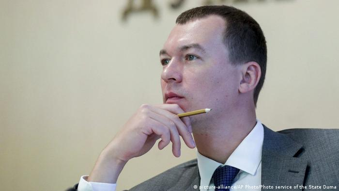 Putin-appointed interim Governor Mikhail Degtarev