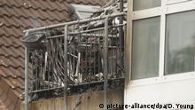 Deutschland Wesel   Absturz Ultraleichtflugzeug auf Wohnhaus