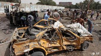 Anschlag auf iranische Botschaft im Irak im April 2010 (Foto:AP)