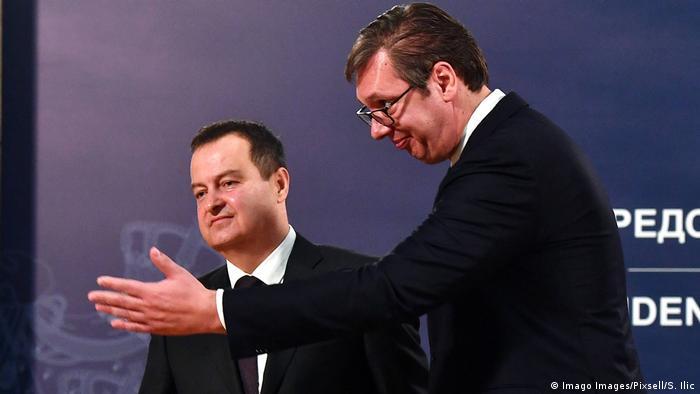 Lideri SPS-a Ivica Dačić i SNS-a Aleksandar Vučić