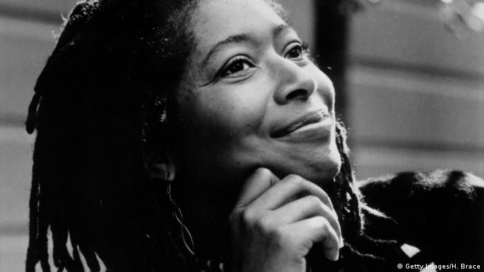 A photograph of Alice Walker smiling