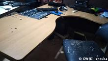 Rádio Capital FM destruída depois de atentado na madrugada de domingo 26.07.2020. Photo: Dansó Iancuba / DW