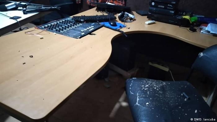 Guinea Bissau Zerstörung Rádio Capital FM