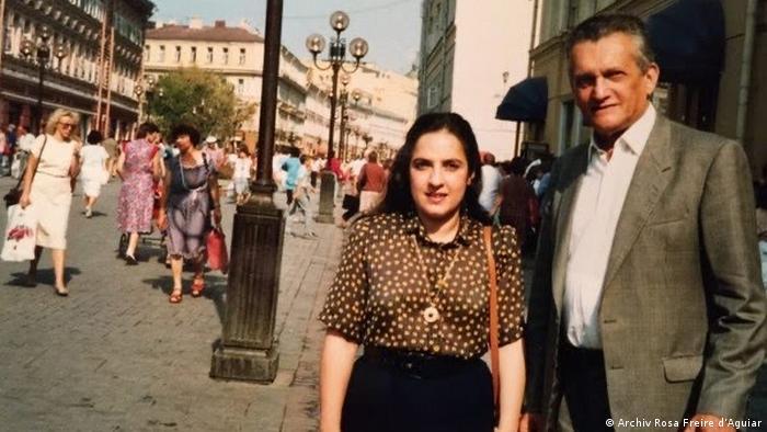 Furtado e sua viúva, a tradutora Rosa Freire d'Aguiar