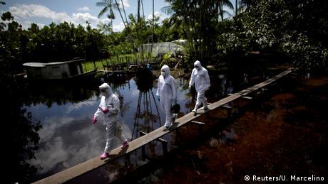 Desinfección contra el coronavirus en el estado brasileño de Pará.