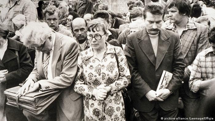 Anna Walentynowicz i Lech Wałęsa