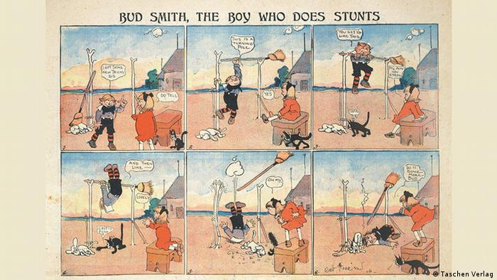 Krazy Kat comics appeared between 1935 and 1944 in color in the Sunday newspaper supplement