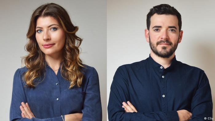 La italiana Simona Lacagnina y el español Álvaro González, desarrolladores de Cliu