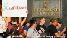 Ukraine Protest gegen Waffenruhe im Donbass