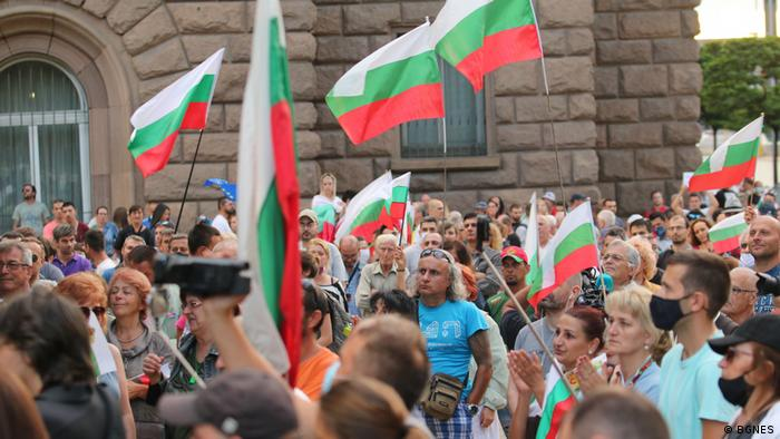 Антиправительственная демонстрация в Софии 26 июля 2020 года