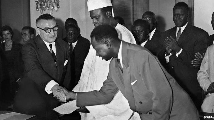 Modibo Keita at the proclamation of the shortlived Federation of Mali that preceded independence for Mali on September 22 1960 (AFP)