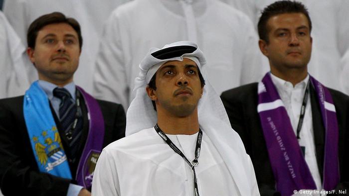 Manchester City team owner Sheikh Mansour bin Zayed Al Nahyan in 2014