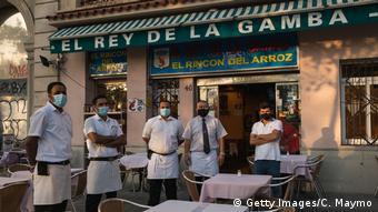 Εστιατόριο στη Βαρκελώνη: περιμένοντας τους πελάτες