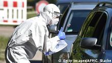 Deutschland Bayern, Mamming | Coronavirus | Testzentrum