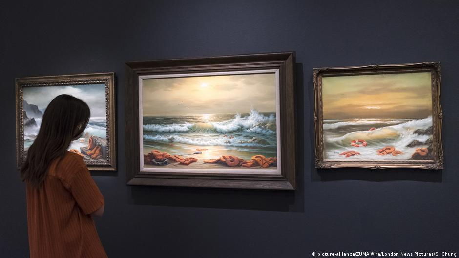 Banksy's donated Mediterranean 'triptych' sells for $2.3 million