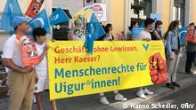 GfbV-Menschenrechtsaktion vor der Siemens-Konzernzentrale in München