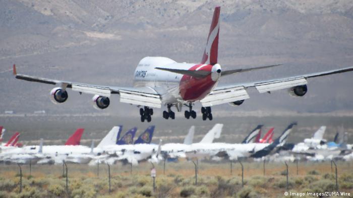 USA Mojave-Wüste | Qantas |Ausmusterung Jumbo 747