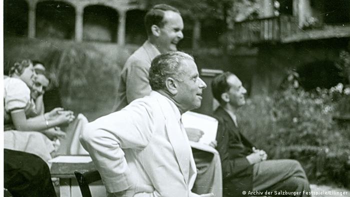 Max Reinhardt with Johannes Reich and Hans Niederführ (Archiv der Salzburger Festspiele/Ellinger)