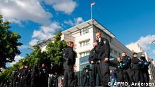 Berlin Polizei vor US-Botschaft