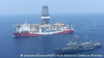 Zypern Mittelmeer türkisches Bohrschiff Yavuz macht Erkundungsbohrungen