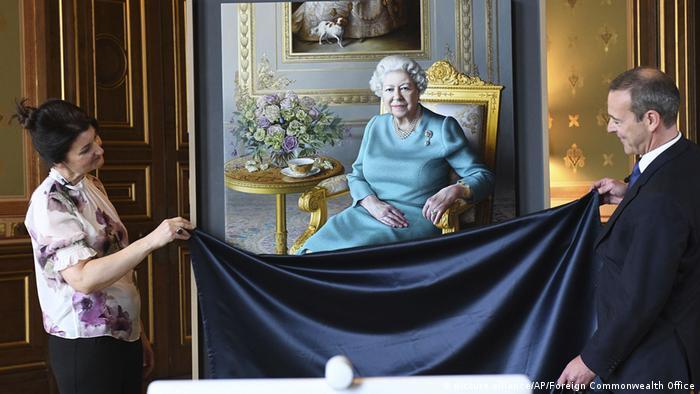 Gemälde Porträt der Queen