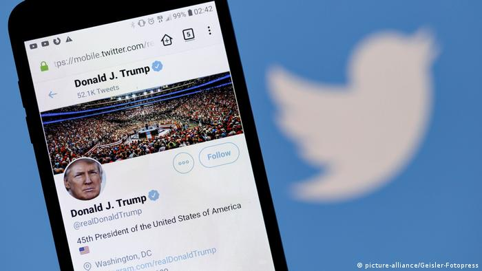 Symbolbild Twitter Account von Donald Trump
