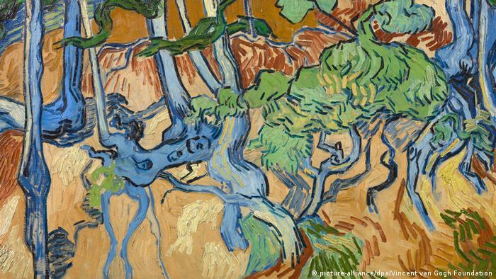 Raízes de árvores de Vicent van Gogh