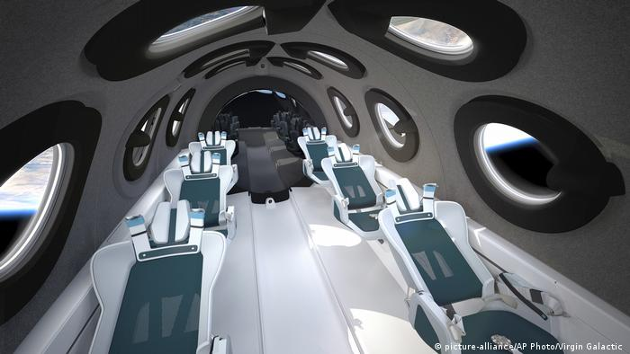 Virgin Galactic has placed great emphasis on the presence of 16 cameras that will document the passengers' journey to space. There is also a large mirror at the rear of the cabin, which gives the astronauts an analog reflection of themselves floating through space.
