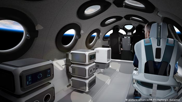All seats have been designed to comfortably seat one individual for G-force management and float zone volume. The company has added personal seat back screens for all spots in order to connect passengers to live flight data at all times.