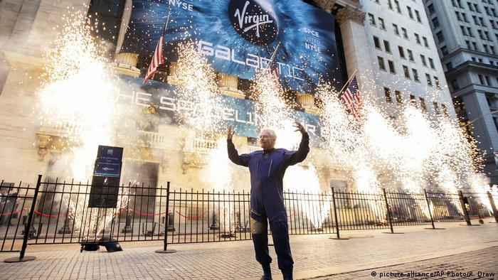 Richard Branson, Gründer von Virgin Galactic, beim Börsengang im Oktober 2019