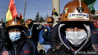 Foto de manifestantes en Bolivia